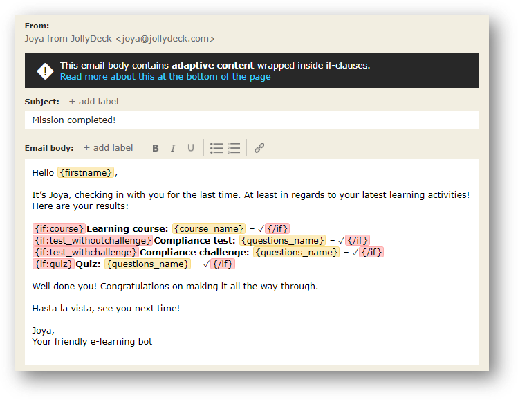 What Is The Highlighted Text Inside Brackets Found In Email Templates